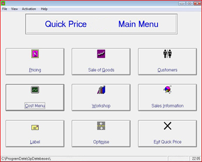 Picture Framing Pricing Software